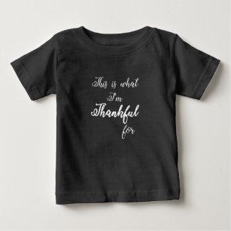 感謝している ベビーTシャツ