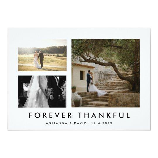 感謝しているMinmalistを永久に結婚するカップルの写真 12.7 X 17.8 インビテーションカード