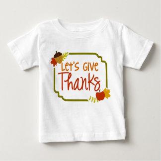 感謝の乳児のTシャツを与えよう ベビーTシャツ