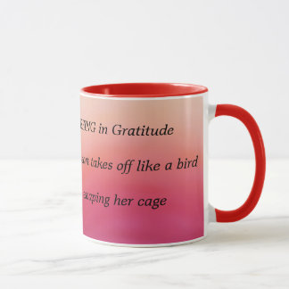 感謝の俳句 マグカップ