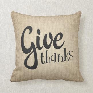 感謝の感謝祭の秋の秋のソファの枕を与えて下さい クッション