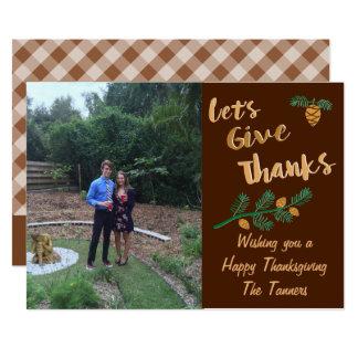 感謝の感謝祭カードを与えよう 12.7 X 17.8 インビテーションカード