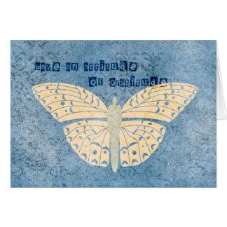 感謝の態度の蝶 カード