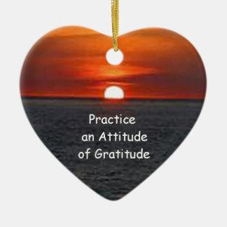 感謝の態度を練習して下さい セラミックオーナメント