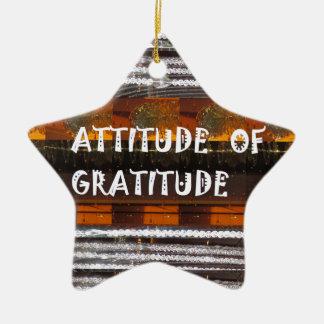 感謝の文字の知恵の単語の態度 セラミックオーナメント