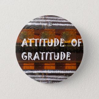 感謝の文字の知恵の単語の態度 5.7CM 丸型バッジ