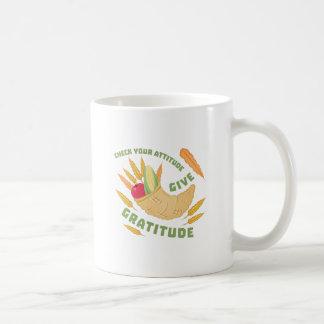 感謝を与えて下さい コーヒーマグカップ