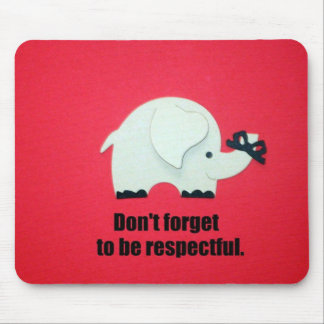 感謝を表するがあるために忘れないで下さい! マウスパッド