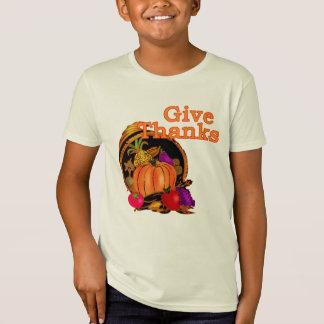 感謝祭のための感謝のコルヌコピアを与えて下さい Tシャツ
