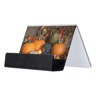感謝祭のための静物画の収穫の装飾 デスク名刺ホルダー