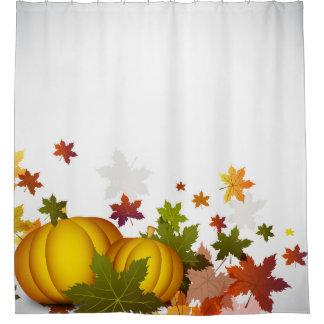 感謝祭のカボチャシャワー・カーテン シャワーカーテン