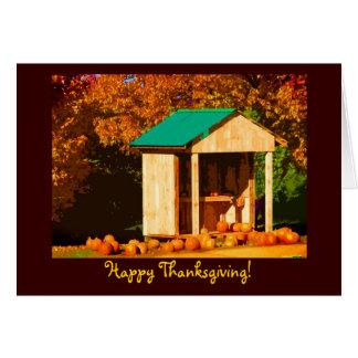 感謝祭のカボチャ カード