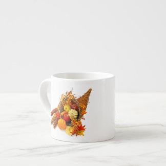 感謝祭のコルヌコピアのエスプレッソのコップ エスプレッソカップ