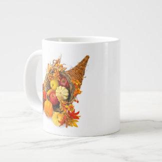 感謝祭のコルヌコピアのジャンボマグ ジャンボコーヒーマグカップ
