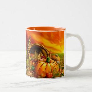 感謝祭のコルヌコピア ツートーンマグカップ