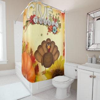 感謝祭のシャワー・カーテン シャワーカーテン