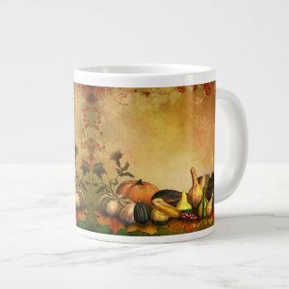 感謝祭のジャンボマグ ジャンボコーヒーマグカップ