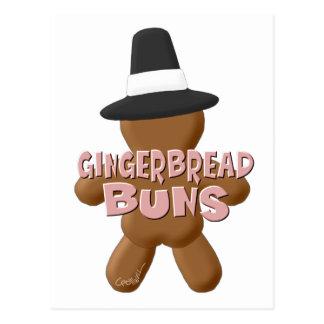 感謝祭のジンジャーブレッドのパン ポストカード