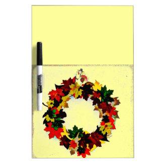 感謝祭のトルコのリース ホワイトボード
