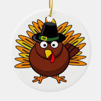 感謝祭のトルコのロゴはクリスマスのプレゼントを作成します セラミックオーナメント