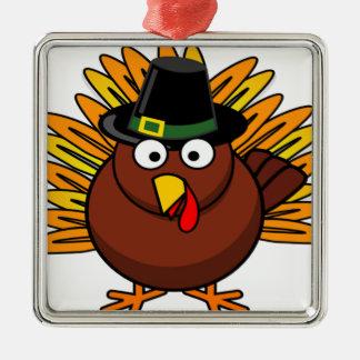 感謝祭のトルコのロゴはクリスマスのプレゼントを作成します メタルオーナメント