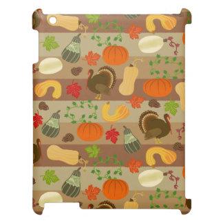 感謝祭のトルコの南瓜の秋の収穫パターン iPadケース