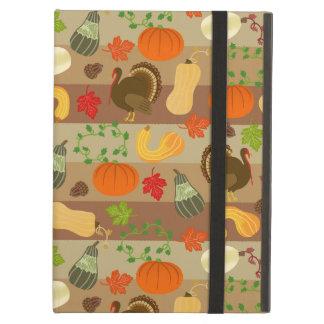 感謝祭のトルコの南瓜の秋の収穫パターン iPad AIRケース