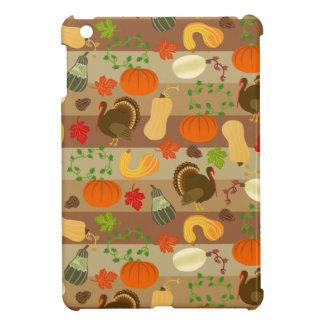 感謝祭のトルコの南瓜の秋の収穫パターン iPad MINIカバー