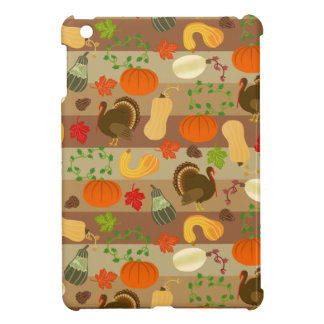 感謝祭のトルコの南瓜の秋の収穫パターン iPad MINIケース
