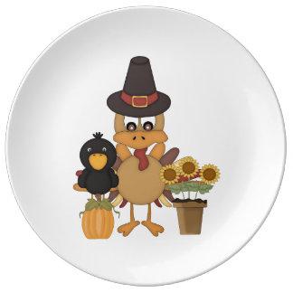 感謝祭のトルコの友人 磁器プレート