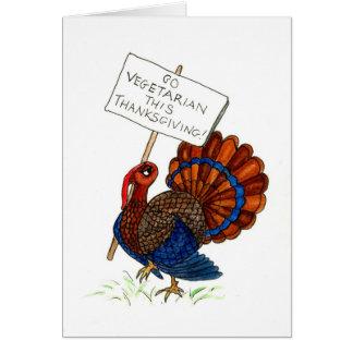 感謝祭のトルコの挨拶状 カード