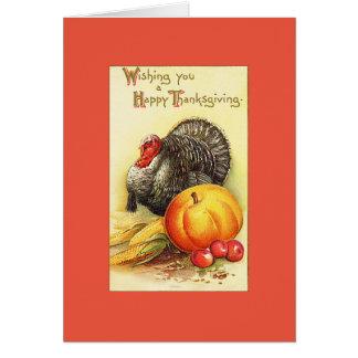 感謝祭のトルコの挨拶 カード