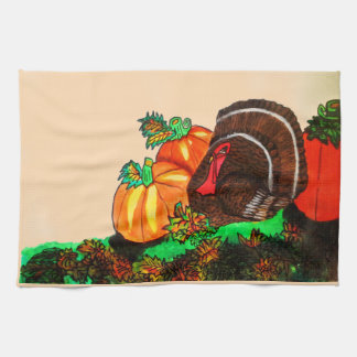 感謝祭のトルコのGOBBLERタオル キッチンタオル