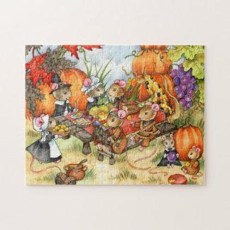 感謝祭のネズミ-かわいいパズル ジグソーパズル