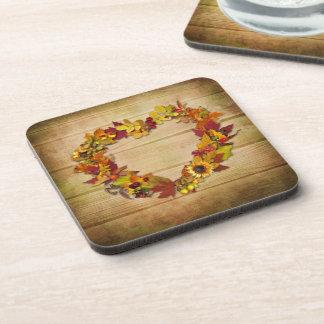 感謝祭のハートのコースター(6)の置いて下さい コースター