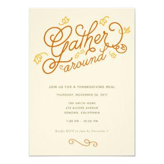 感謝祭のパーティの招待状 カード