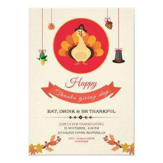 感謝祭のパーティーのフライヤ カード