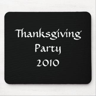 感謝祭のパーティー2010年のスタイリッシュな白黒のカスタム マウスパッド