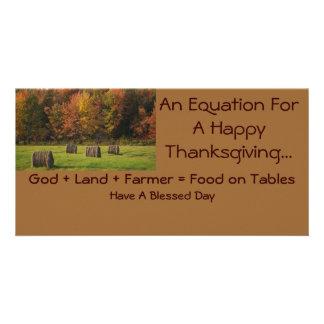 感謝祭のフォトカード カード