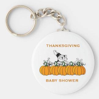 感謝祭のベビーシャワーの好意 キーホルダー