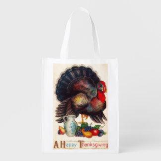 感謝祭のヴィンテージのトルコの幸せな買い物袋 エコバッグ