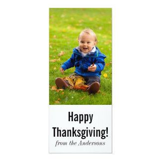 感謝祭の写真の挨拶 10.2 X 23.5 インビテーションカード