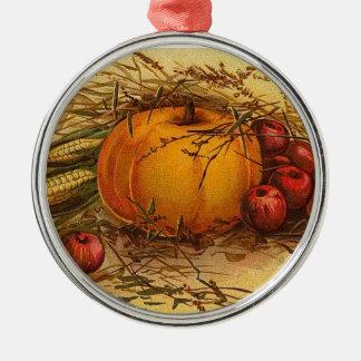 感謝祭の収穫のオーナメント メタルオーナメント
