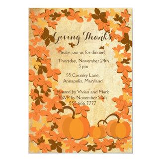 感謝祭の夕食の招待状 カード