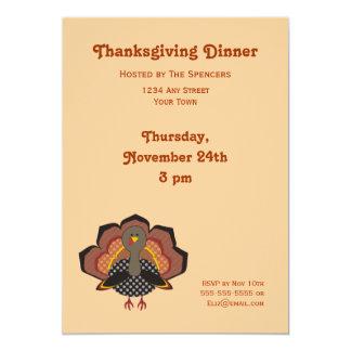 感謝祭の夕食の招待状 12.7 X 17.8 インビテーションカード