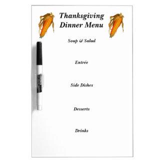 感謝祭の夕食メニューホワイトボード ホワイトボード