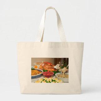感謝祭の夕食 ラージトートバッグ