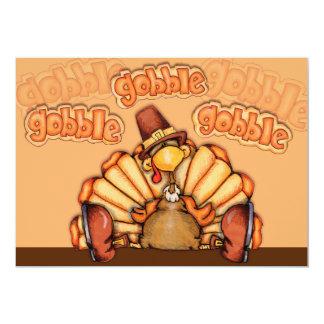 感謝祭の夕食 12.7 X 17.8 インビテーションカード