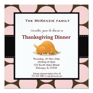 感謝祭の夕食 13.3 スクエアインビテーションカード