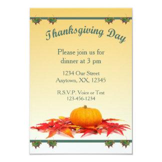 感謝祭の夕食 8.9 X 12.7 インビテーションカード